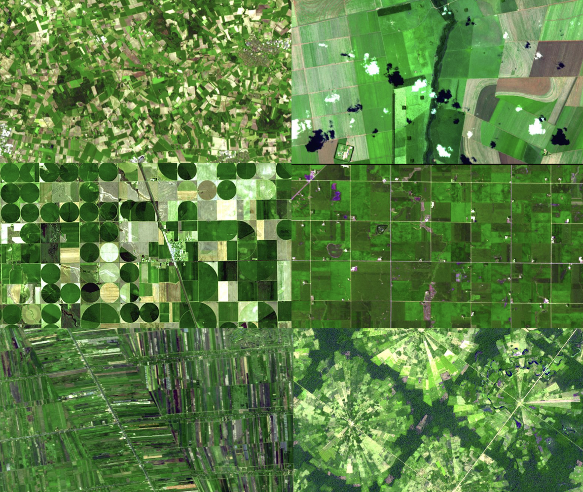 Satellites provide many different types of crop data that aid in agricultural monitoring.