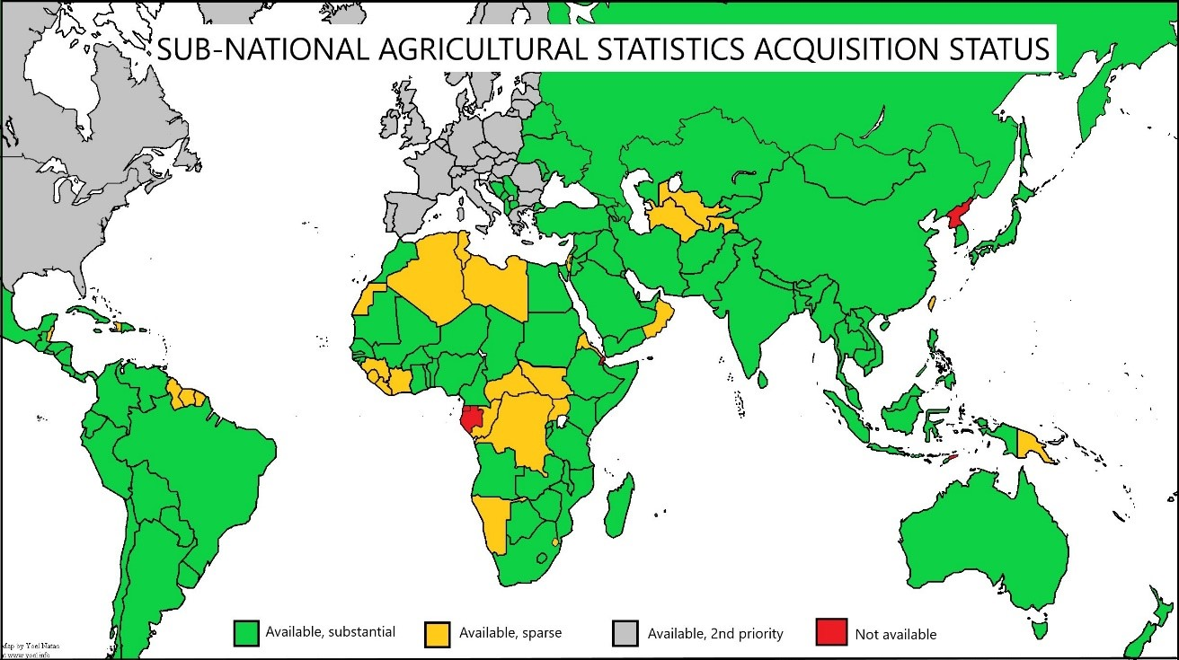 Sub-national Agricultural Aquisition Status