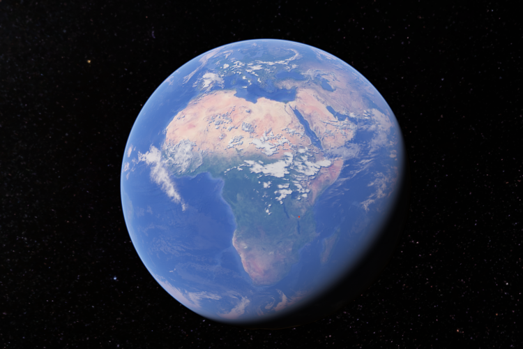 Earth image of Africa