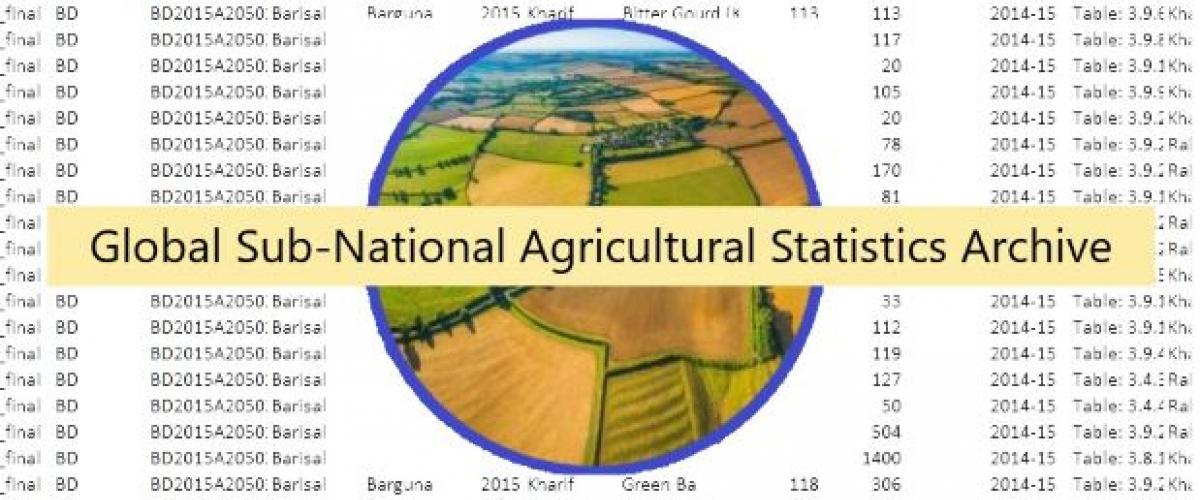 A compilation of published sub-national agricultural statistics from around the globe