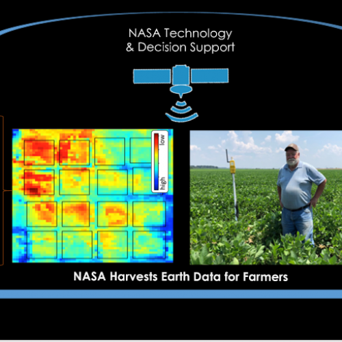 NASA satellites and technology support farm operations  to improve US production, resource use, and farmer livelihoods