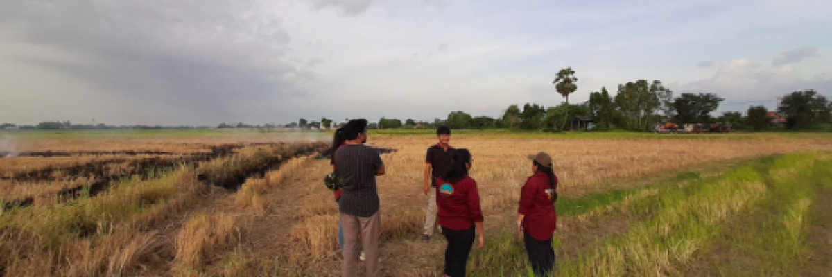 Interview with farmer to understand drivers of residue burning practices.